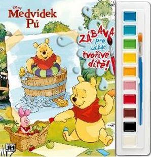 Obrázok Maľovanky set s farbami A4 Macko Pú