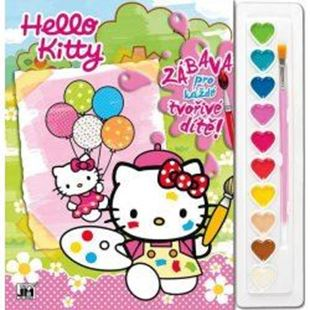 Obrázok Maľovanky set s farbami A4 Hello Kitty