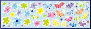 Obrázok Dekorácia na stenu Motýle, kvetiny, kolieska