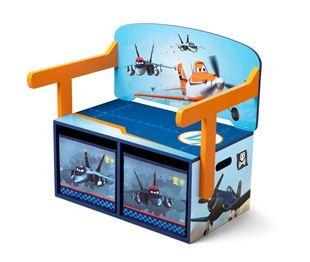 Obrázok Detská lavica s úložným priestorom Lietadlá