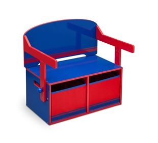 Obrázok Detská lavica s úložným priestorom modro - červená