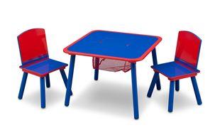 Obrázok Detský stôl s stoličkami modro-červený