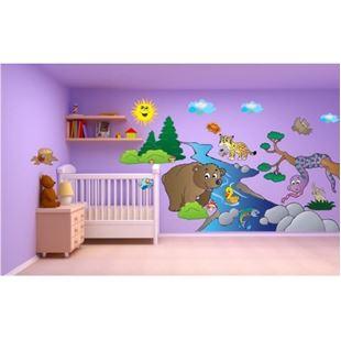 Obrázok Zvieratká samolepka na stenu