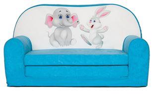 Obrázok Rozkladacia detská mini pohovka Sloníča a zajačik
