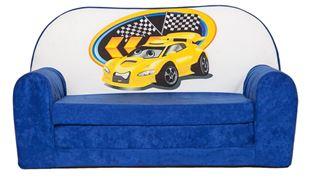 Obrázok Rozkladacia detská mini pohovka Závodné auto