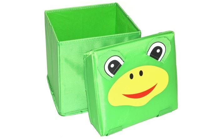 52946cc0d Skladací úložný box - sedátko 2v1 Žabička. Bambulin.sk - hračky ...