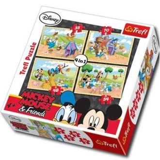 Obrázok z Puzzle Mickey Mouse 4v1- na farme