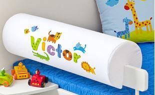 Obrázok Chránič na posteľ s menom - Zvieratká Safari + meno