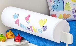 Obrázok Chránič na posteľ s menom - Pastelové srdce + meno