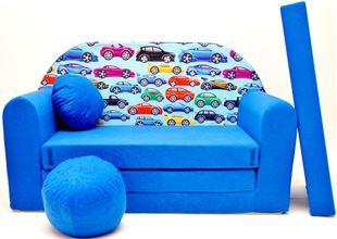 Obrázok Detská pohovka Autíčka - Modrá C21 +