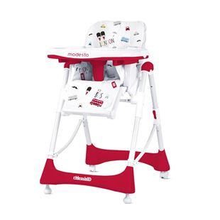 Obrázok Detská jedálenská stolička Modesto - Scarlet