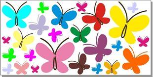 Obrázok Motýliky I. samolepka na stenu