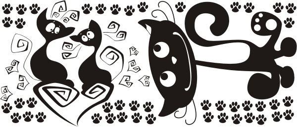 Čerstvá čierna mačička obrázky