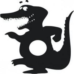 Obrázok Samolepiace velúrová ochrana vypínače Krokodíl - mix farieb