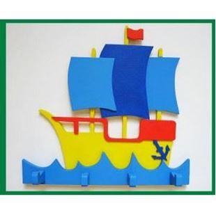 Obrázok Drevený vešiačik - Loď