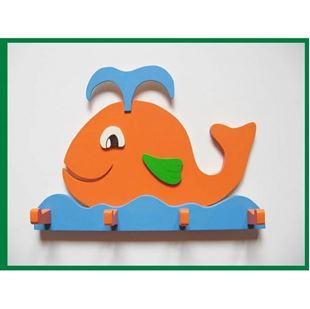 Obrázok Drevený vešiačik - Veľryba