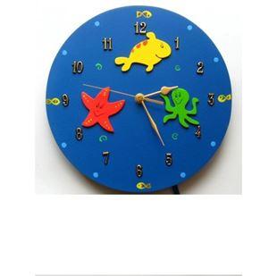 Obrázok Detské drevené hodiny Oceán