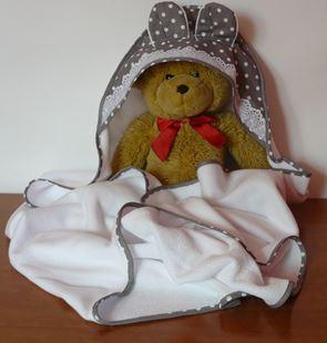 Obrázok Termo-FROTÉ detská osuška - 100x100cm Šedá s bodkami