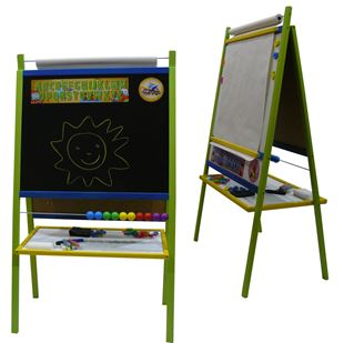 Obrázok Detská magnetická tabuľa 4v1 farebná - výška 116 cm