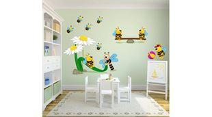 Obrázok Veselé včielky samolepka na stenu