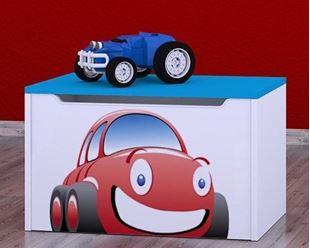 Obrázok Detská komoda na hračky - auto modrá