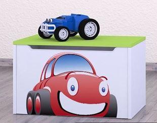 Obrázok Detská komoda na hračky - auto zelená