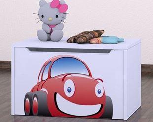 Obrázok Detská komoda na hračky - auto biela
