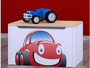 Obrázok Detská komoda na hračky - auto jelša
