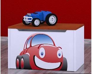 Obrázok Detská komoda na hračky - auto teak