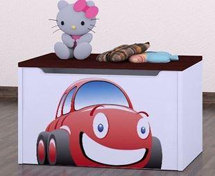 Obrázok Detská komoda na hračky - auto wenge
