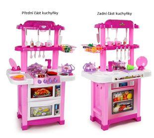 Obrázok Detská obojstranná kuchynka - ružová