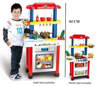 Obrázok Detská obojstranná kuchynka - červená