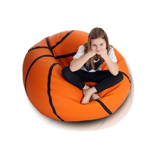 Obrázok Sedací vak Basketbalová lopta - Eko koža