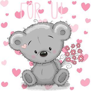 Obrázok Medvedík samolepka na stenu