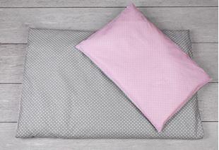 Obrázok Obliečky do postieľky 120 x 90 - Ružové bodky