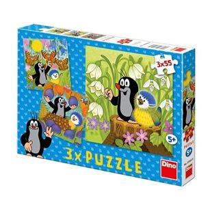 Obrázok Puzzle 3x55 dielikov Krtko a vtáčik