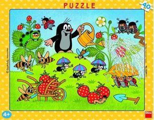 Obrázok Puzzle v ráme 40 dielikov Krtko v jahodách