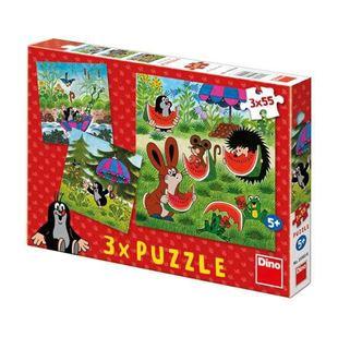 Obrázok Puzzle 3x55 dielikov Krtko a paraplíčko
