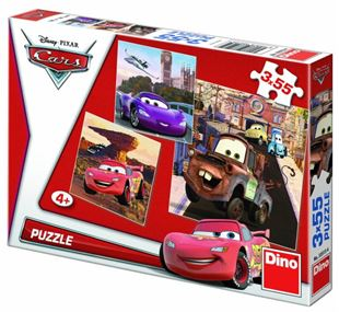 Obrázok Puzzle 3x55 dielikov Cars