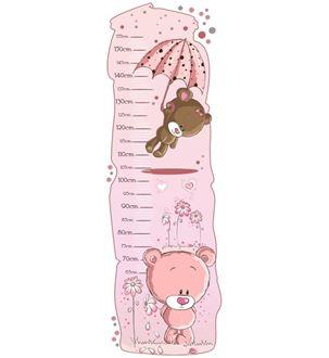 Obrázok z Meter na stenu - Medvedíci ružová
