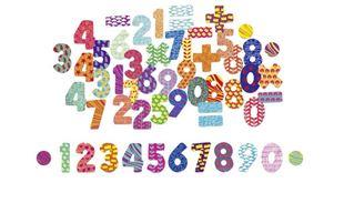 Obrázok Drevené magnetky Čísla - 56ks
