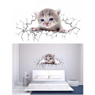 Obrázok Mačka samolepka na stenu