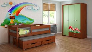 Obrázok Detská posteľ s prístelkou - Junior - 180x90cm