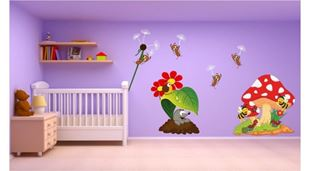 Obrázok Mravce a zvieratká samolepka na stenu