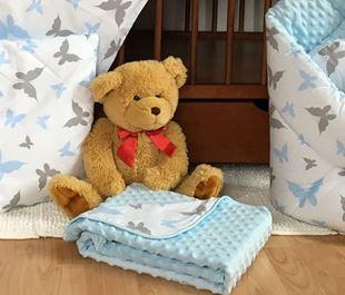 Obrázok Detská deka Minka 75 x 100cm - Motýliky