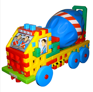 Obrázok Skladačka - betonárska voz