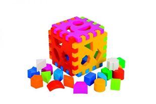 Obrázok Vkladacie edukačné kocka