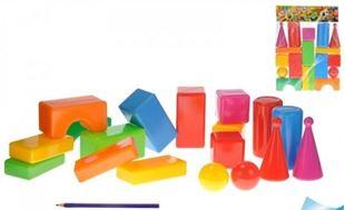 Obrázok Plastové kocky - 18 kusov