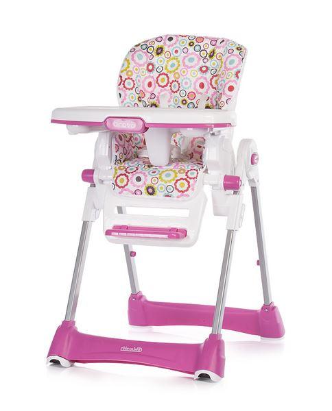 ff14655cdc6e Obrázok z Chipolino Detská jedálenská stolička Bravo - Ružová Kytičky