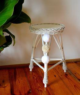 Obrázok Prútený stolček guľatý